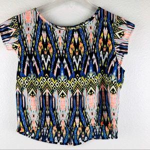 Women's B Jewel boho print shirt size medium 🌻!